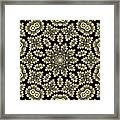 Yellow Floral Ornament Design Framed Print