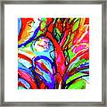 Yellow Iris Abstract Framed Print