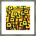 Yellow Poppies  - Featured On The Abc Comedy Series Super Fun Night Framed Print