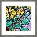 Yellow Roses Framed Print by Sheila Tajima