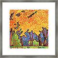 Yellow Tree Framed Print by Nadi Spencer