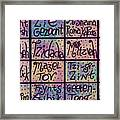 Yiddish Positive Phrases Framed Print