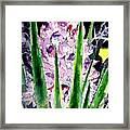 Yucca Flower Plant Southwestern Art Framed Print