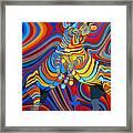 Zebradelic Framed Print