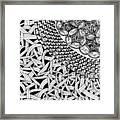 Zentangle Inspired Design Framed Print