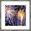 Zig Zag Blast Framed Print by Debra     Vatalaro