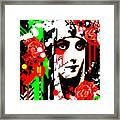 Zombie Queen Roses Framed Print