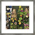 A Floating Market On A Canal In Framed Print