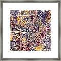 Munich Germany City Map Framed Print