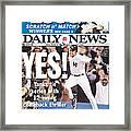 Daily News Front Page Derek Jeter Framed Print