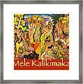 Mele Kalikimaka Framed Print