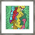 Psychedelic Animals Framed Print