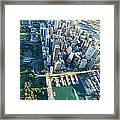 Sydney Downtown - Aerial View Framed Print