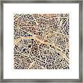 Paris France City Map Framed Print