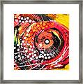 Abstract Lion Fish Framed Print
