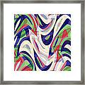 Abstract Waves Painting 0010118 Framed Print