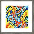 Abstract Waves Painting 007176 Framed Print