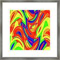 Abstract Waves Painting 007192 Framed Print