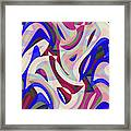 Abstract Waves Painting 007199 Framed Print