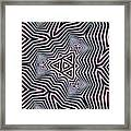 Abstract Zebra Design Framed Print