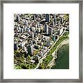 Aerial Of West End, Vancouver Framed Print