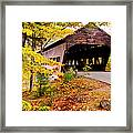Albany Covered Bridge Near Conway, New Framed Print