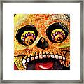 Aranas Sugarskull Of Spiders Framed Print