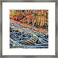 Autumn Cascade Framed Print