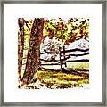 Autumn In Doughton Ap Framed Print
