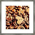 Beans And Buttons Framed Print