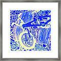 Biking Blue Framed Print
