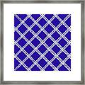 Blue Knit Framed Print