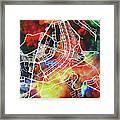 Brasilia Brazil Watercolor City Street Map Framed Print