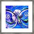 Butterfly Blue Violet Framed Print