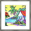 Cayman Cottage On The Bay Framed Print