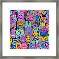 Colorful Bright Psychedelic Seamless Framed Print