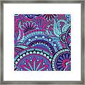 Colorful Floral Background In Boho Style Framed Print