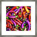 Colorful Peppers Framed Print