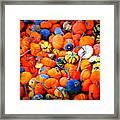 Colorful Tiny Pumpkins Framed Print