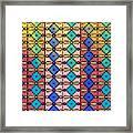 Coloured Glass Window Framed Print