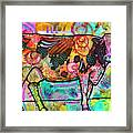 Cow - Mooove Over Rover Framed Print