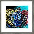 Deep Sea Sea Turtle Framed Print