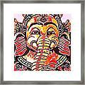 Elephant Face Framed Print