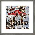 Gargoyle Mobiloil Vacuum Oil Co Rusty Sign Framed Print