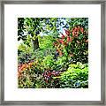 Gorgeous Gardens At Cornell University - Ithaca, New York Framed Print