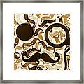 Hairy Hipster Framed Print