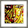 Her Multicultural Face Framed Print