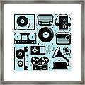 Illustration Of Different Musical Framed Print