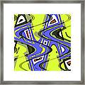 Janca Yellow And Blue Wave Abstract, Framed Print