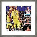 Lamar & Kobe: It's On!!! SLAM Cover Framed Print